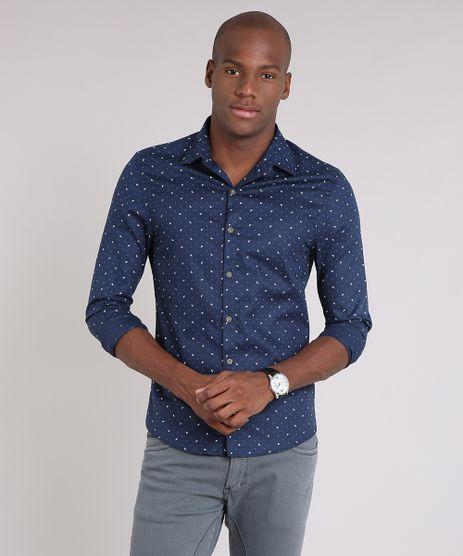 Camisa-Masculina-Slim-Estampada-Manga-Longa-Azul-Marinho-9138279-Azul_Marinho_1