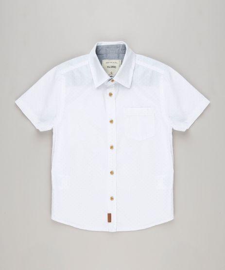 Camisa-Infantil-Estampada-de-Poas-com-Bolso-Manga-Curta-Off-White-9117615-Off_White_1