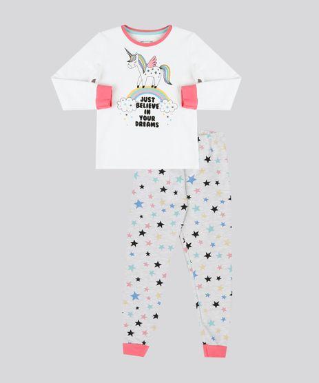 Pijama-Infantil-de-Unicornio-com-Glitter-em-Moletom-Manga-Longa-Cinza-Mescla-9133022-Cinza_Mescla_1