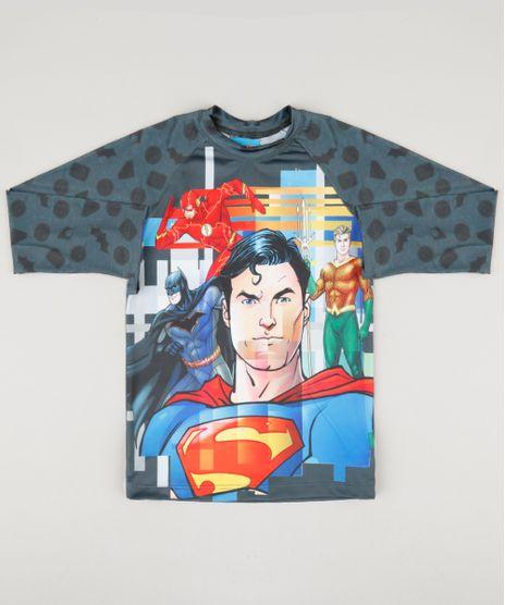Camiseta-Infantil-Liga-da-Justica-com-Protecao-UV50--Manga-Longa-Chumbo-9122340-Chumbo_1
