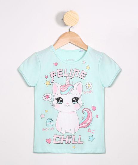 Camiseta-Infantil--Feline-Chill--Manga-Curta-Decote-Redondo-Azul-Claro-9988947-Azul_Claro_1