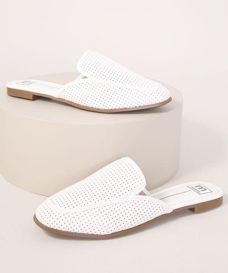 Mule-Feminino-com-Micro-Furos-Moleca-Branco-9990208-Branco_1