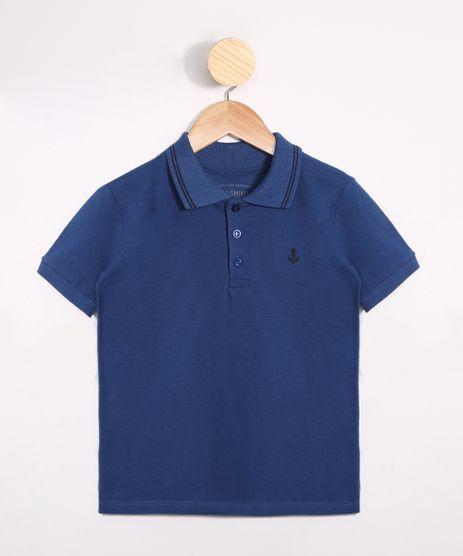 Polo-Infantil-de-Piquet-com-Bordado-Manga-Curta-Azul-9980479-Azul_1