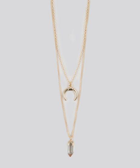 Colar-Feminino-Duplo-com-Pingentes-Dourado-9082357-Dourado_1