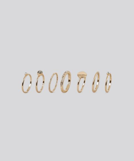 Kit-de-7-Aneis-Femininos-Dourado-9098024-Dourado_1