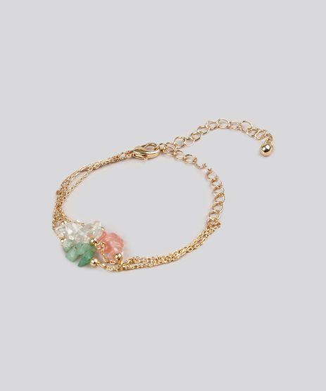 Pulseira-Feminina-com-Correntes-e-Pedraria-Dourada-9082360-Dourado_1