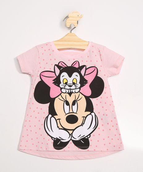 Blusa-Infantil-Minnie-Manga-Curta-Decote-Redondo-Rosa-9976916-Rosa_1