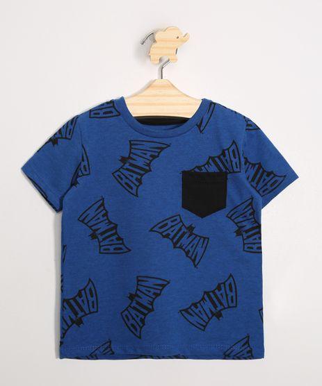 Camiseta-Infantil-Estampado-Batman-com-Bolso-Manga-Curta-Gola-Careca-Azul-9986765-Azul_1