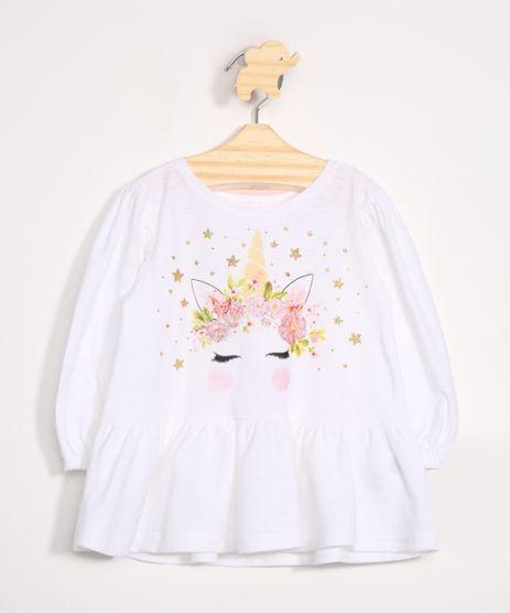 Blusa-Infantil-Unicornio-com-Babados-Manga-Longa-Decote-Redondo-Off-White-9988631-Off_White_1