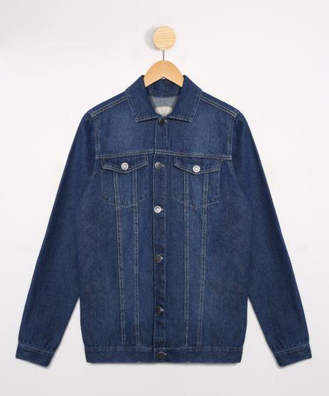 Jaqueta-Juvenil-Jeans-com-Bolsos-Azul-Escuro-9988309-Azul_Escuro_1