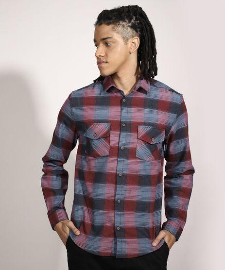 Camisa-Tradicional-Estampada-Xadrez-Manga-Longa-Multicor-9982805-Multicor_1