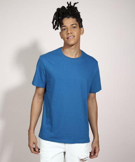 Camiseta-Basica-Manga-Curta-Gola-Careca-Azul-8472740-Azul_1