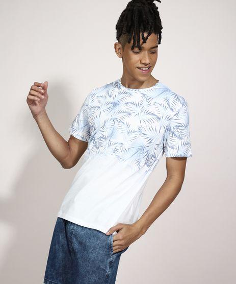 Camiseta-Estampada-Folhagem-Degrade-Manga-Curta-Gola-Careca-Branca-9981929-Branco_1
