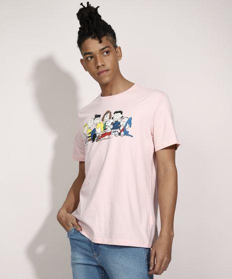 Camiseta-Turma-do-Snoopy-Manga-Curta-Gola-Careca-Rosa-Claro-9983303-Rosa_Claro_1