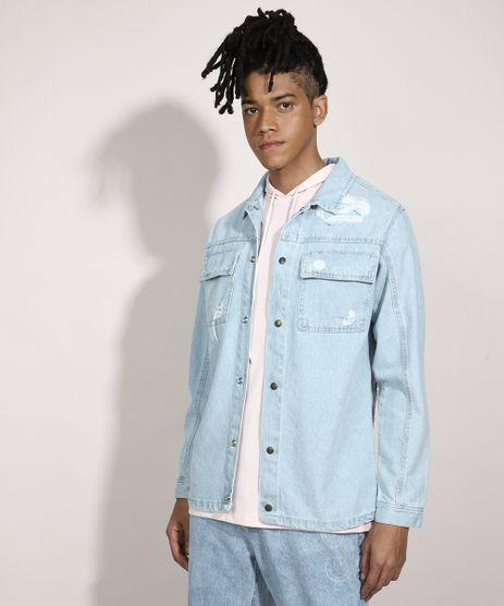 Jaqueta-Comfort-Jeans-Destroyed-com-Bolsos-Azul-Claro-9981193-Azul_Claro_1