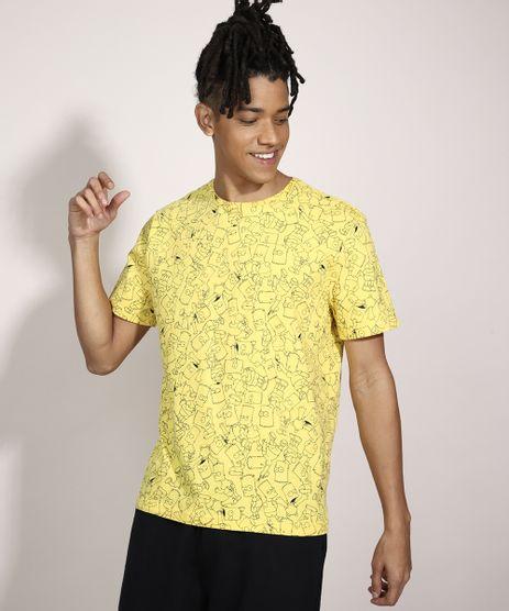 Camiseta-Bart-Simpson-Manga-Curta-Gola-Careca-Amarela-9985609-Amarelo_1