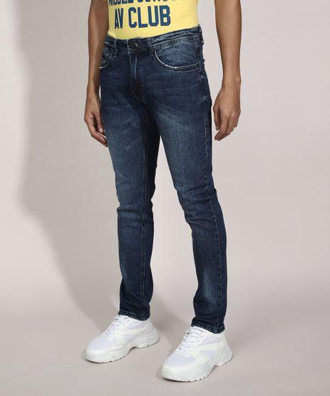Calca-Slim-Jeans-com-Puidos-Azul-Escuro-9982496-Azul_Escuro_1