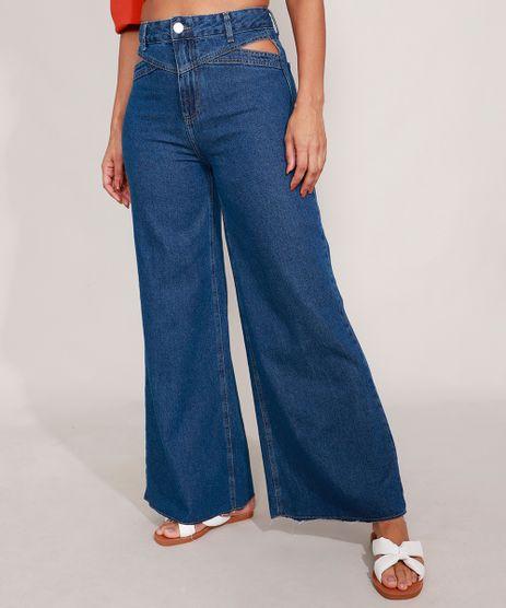Calca-Wide-Jeans-Cintura-Super-Alta-Cut-Out-Azul-Medio-9992722-Azul_Medio_1