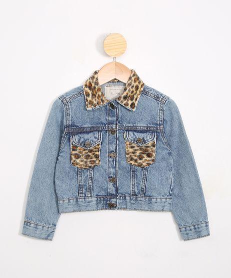Jaqueta-Infantil-Jeans-Cropped-com-Recorte-Animal-Print-de-Onca-Azul-Medio-9989585-Azul_Medio_1