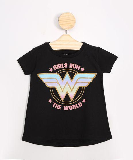 Blusa-Infantil-Mulher-Maravilha--Girls-Run-The-World--Manga-Curta-Decote-Redondo-Preto-9988712-Preto_1