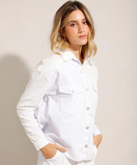 Camisa-de-Sarja-Manga-Longa-com-Bolsos-e-Barra-a-Fio-Off-White-9993774-Off_White_1