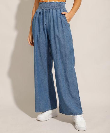 Calca-Jeans-Feminina-Pantalona-Wide-Clochard-Cintura-Alta-Alfaiatada-Azul-Medio-9985076-Azul_Medio_1