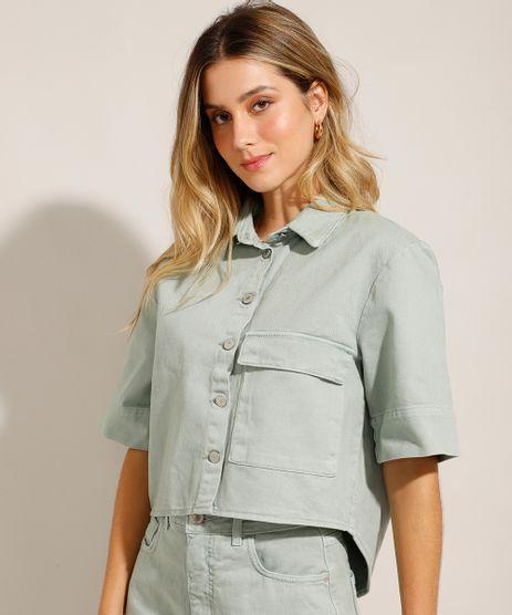 Camisa-Cropped-Oversized-em-Sarja-com-Bolso-Verde-Claro-9993777-Verde_Claro_1