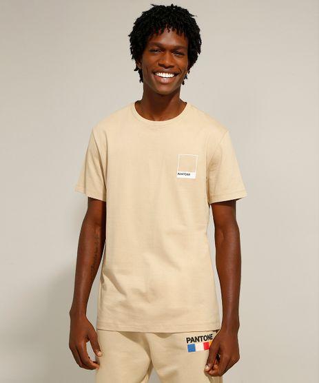 Camiseta-de-Algodao-Manga-Curta-Gola-Careca-Pantone-Kaki-9958968-Kaki_1