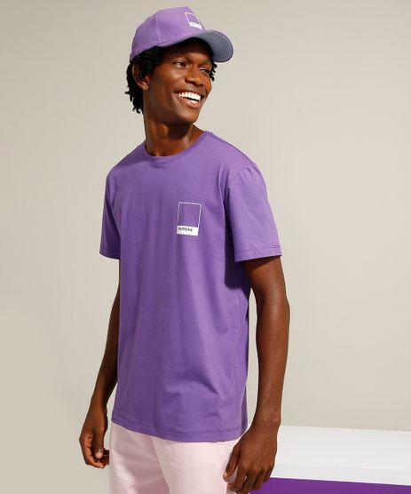 Camiseta-de-Algodao-Manga-Curta-Gola-Careca-Pantone-Roxa-9958968-Roxo_1