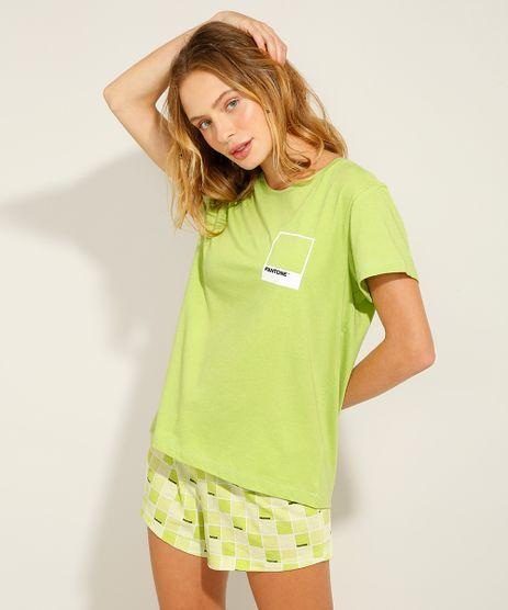 Pijama-de-Algodao-Manga-Curta-Pantone-Verde-9988075-Verde_1