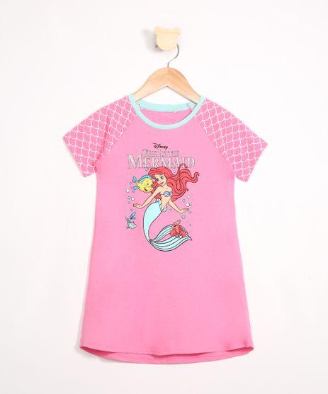 Camisola-Infantil-Raglan-Ariel-Manga-Curta-Decote-Redondo-Rosa-9983168-Rosa_1
