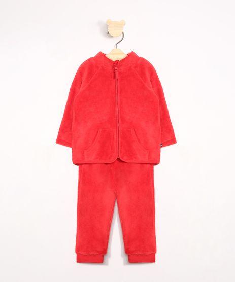 Conjunto-Infantil-de-Fleece-Blusao-Gola-Alta---Calca-Jogger-Vermelho-9972024-Vermelho_1