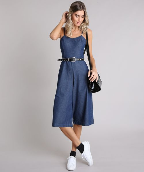 27af0cc9ed Macacao-Jeans-Feminino-Pantacourt-Alcas-Finas-Azul-Escuro-