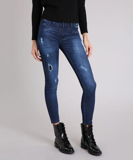 Calca-Jeans-Feminina-Sawary-Jegging-com-Puidos-Azul-Escuro-9162723-Azul_Escuro_1