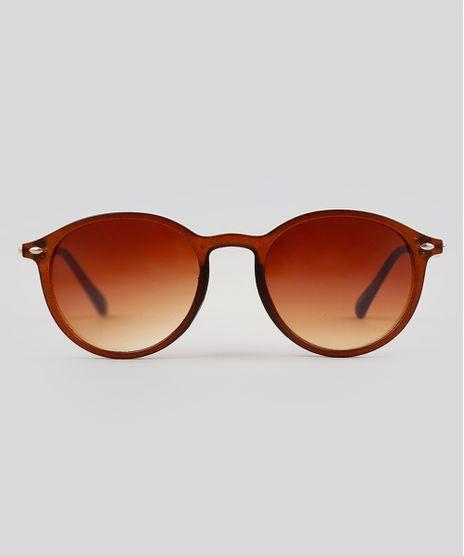 Oculos-de-Sol-Redondo-Feminino-Oneself-Marrom-9224744-Marrom_1