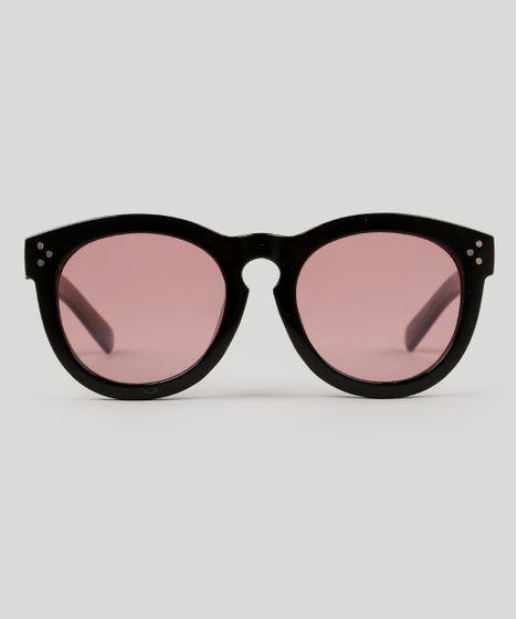 ad1acd02c Oculos-de-Sol-Redondo-Feminino-Oneself-Preto-9239787- ...