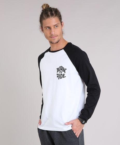 Camiseta-Masculina--Born-to-Ride--Raglan-Manga-Longa-Gola-Careca-Branca-9204241-Branco_1