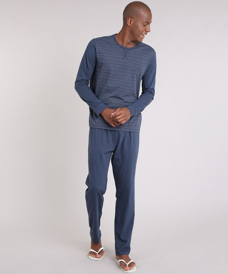 Pijama-Masculino-Listrado-Manga-Longa-Gola-Careca--Azul-Marinho-9171275-Azul_Marinho_1
