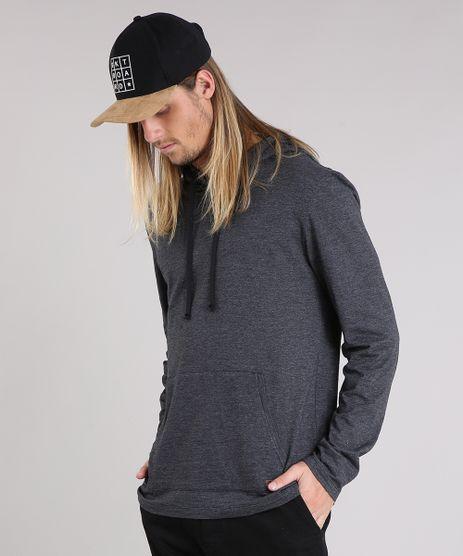 Camiseta-Masculina-com-Capuz-e-Bolso-Manga-Longa-Cinza-Mescla-Escuro-9189204-Cinza_Mescla_Escuro_1