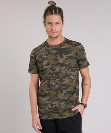 Camiseta-Masculina-Estampada-Camuflada-Manga-Curta-Gola-Careca-Verde-Militar-9210877-Verde_Militar_1