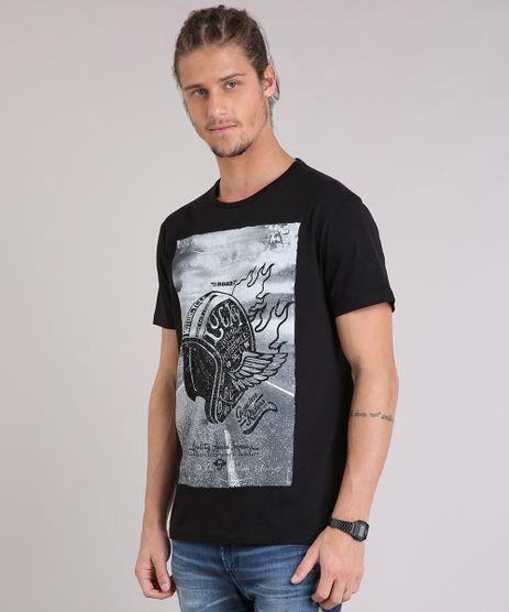 Camiseta-Masculina--Motorcycle--Manga-Curta-Gola-Careca-Preta-9079878-Preto_1