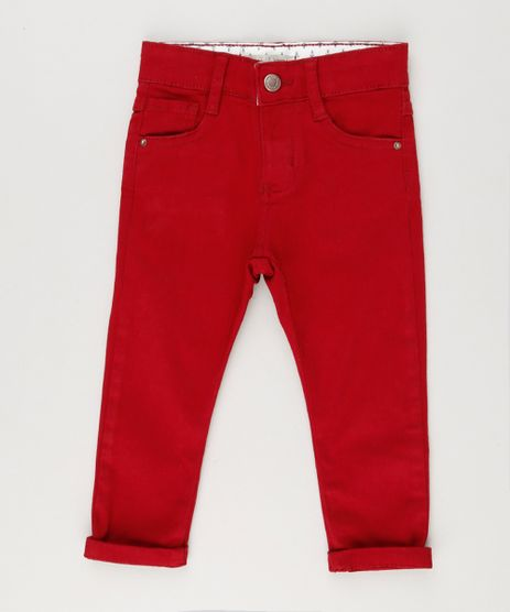 Calca-Color-Infantil-Skinny-em-Algodao---Sustentavel-Vermelha-8379225-Vermelho_1