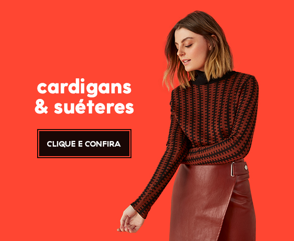 Banner Carrossel - Cardigans e sueteres