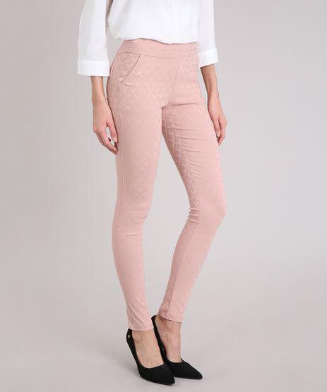 Calca-Legging-Feminina-em-Jacquard-Rose-8597791-Rose_1