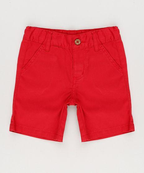 Bermuda-Color-Infantil-Reta-em-Algodao---Sustentavel--Vermelha-8277086-Vermelho_1