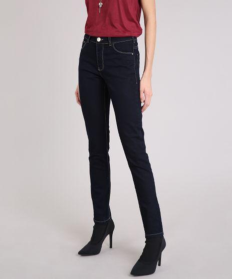 Calca-Jeans-Feminina-Skinny-com-Algodao---Sustentavel-Azul-Escuro-8372190-Azul_Escuro_1