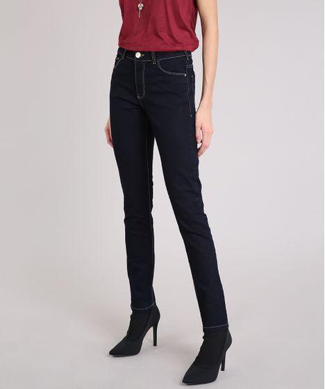 Calça Jeans Feminina Skinny Azul Escuro - cea d6f6ae25c51d0
