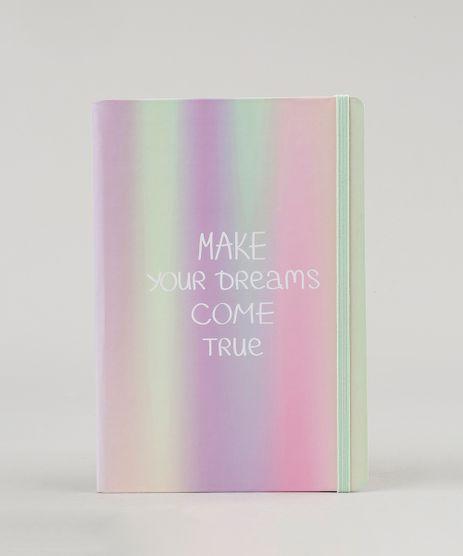 Caderno--Make-your-Dreams-Come-True--Sem-Pauta-205-x-14-cm-Lilas-9131731-Lilas_1