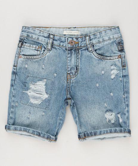 Bermuda-Jeans-Infantil-Destroyed-Azul-Claro-9148467-Azul_Claro_1