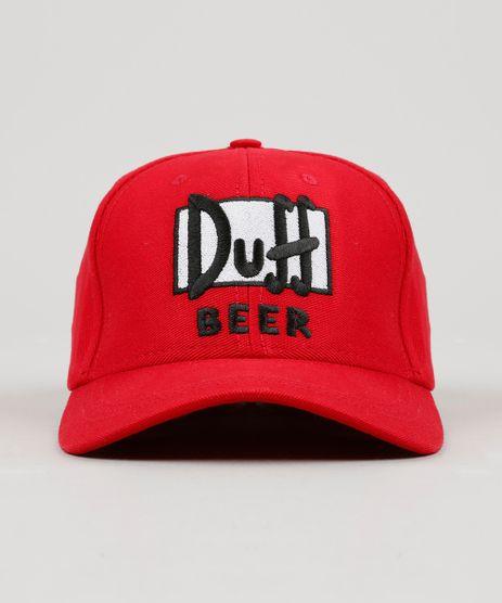 Bone-Masculino--Duff-Beer--Os-Simpsons-Aba-Curva-Vermelho-9127493-Vermelho_1